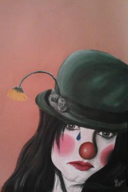 Picturi cu potrete/nuduri Clovnul trist
