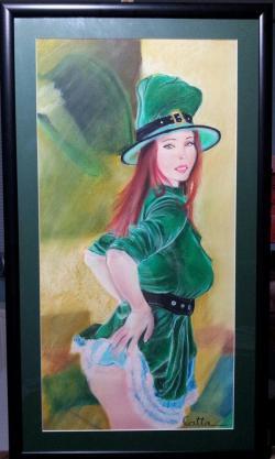 Picturi cu potrete/nuduri irish green