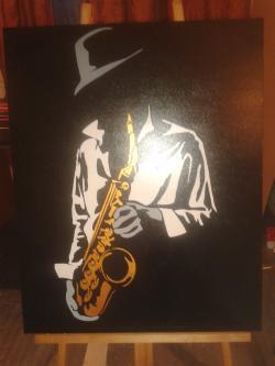 Picturi cu potrete/nuduri saxofonist1