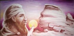Picturi cu potrete/nuduri Un dac tarabostes si sfinxul din Bucegi