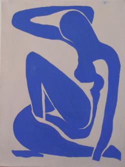 Picturi cu potrete/nuduri Nud albastru