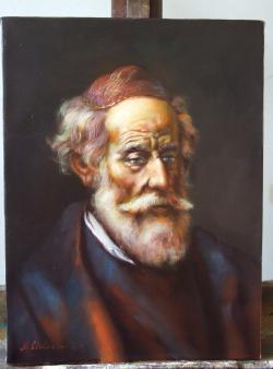 Picturi cu potrete/nuduri batran 03