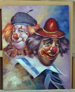 Picturi cu potrete/nuduri doi clovni