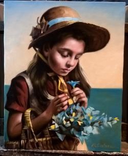 Picturi cu potrete/nuduri Floricica