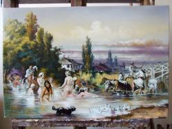 Picturi cu potrete/nuduri La scaldat