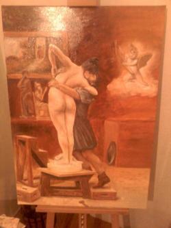 Picturi cu potrete/nuduri Statuie vie