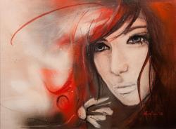 Picturi cu potrete/nuduri burning red