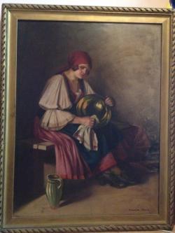 Picturi cu potrete/nuduri Portret - Tiganca