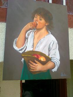Picturi cu potrete/nuduri PALARIA CU MERE