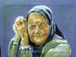 Picturi cu potrete/nuduri Old Shepard Woman