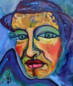Picturi cu potrete/nuduri Femeie pe ganduri
