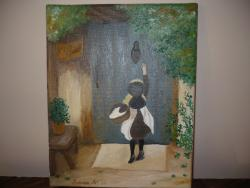Picturi cu potrete/nuduri Little girl