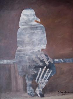Picturi cu potrete/nuduri Batrana pe lavita