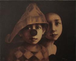 Picturi cu potrete/nuduri doi arlechini