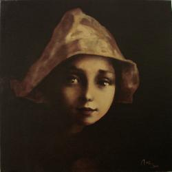 Picturi cu potrete/nuduri fetita cu coif