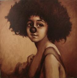 Picturi cu potrete/nuduri portret de clown
