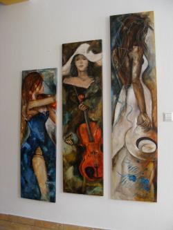 Picturi cu potrete/nuduri Cele trei