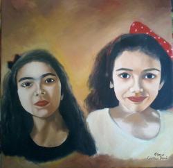 Picturi cu potrete/nuduri Ivone si Bianca