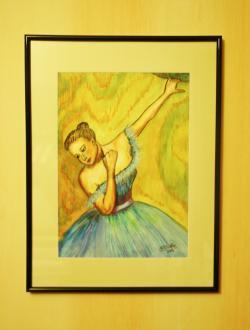 Picturi cu potrete/nuduri Balerina in asteptare 1, inramat