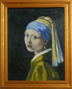 Picturi cu potrete/nuduri fata cu turban