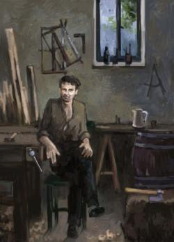 Picturi cu potrete/nuduri lemnarul