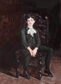 Picturi cu potrete/nuduri portret de baiat , detaliu