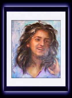 """Picturi cu potrete/nuduri portret fata -"""" Bucurie """""""