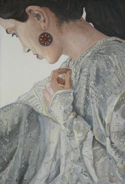 Picturi cu potrete/nuduri Cercelul rosu