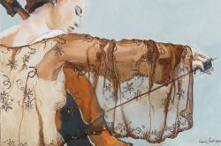 Picturi cu potrete/nuduri Violoncelista