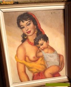 Picturi cu potrete/nuduri MAMA SI COPILILUL MOMENT INTIM