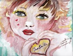 Picturi cu potrete/nuduri copilarie 1