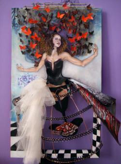"Picturi cu potrete/nuduri ""The Lady of Butterflies"""