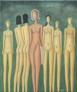 Picturi cu potrete/nuduri nuduri in aer liber