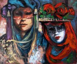 Picturi cu potrete/nuduri Carnaval la Venetia