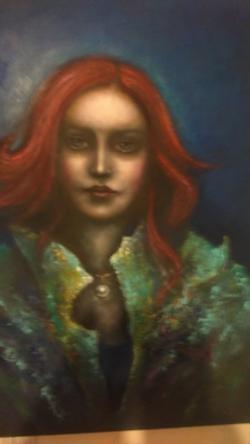Picturi cu potrete/nuduri fata cu perla