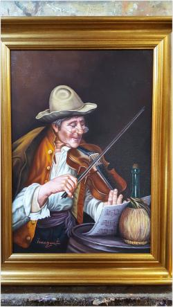 Picturi cu potrete/nuduri portret violonist