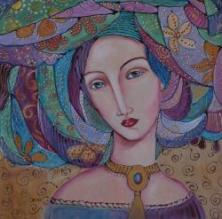 Picturi cu potrete/nuduri Nadia