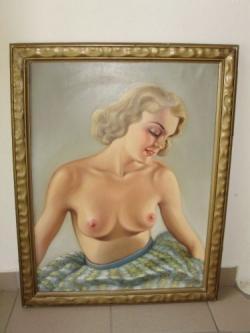 Picturi cu potrete/nuduri Tablou Nud Scoala Maghiara Originala
