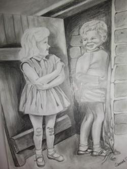 Picturi cu potrete/nuduri Surasul Copilariei