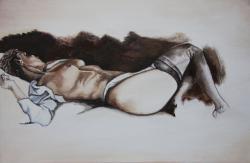 Picturi cu potrete/nuduri Fata nud