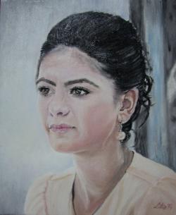 Picturi cu potrete/nuduri Portret de fata 3