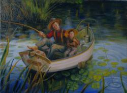 Picturi cu potrete/nuduri la pescuit
