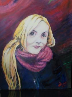 Picturi cu potrete/nuduri Amalia, fata pictorului