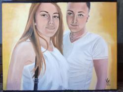 Picturi cu potrete/nuduri portret cuplu