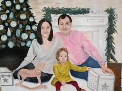 Picturi cu potrete/nuduri portret familie