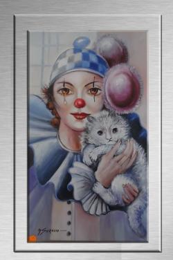 Picturi cu potrete/nuduri clown--88s1