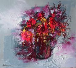 Picturi cu flori flori din ochiul de foc-99a