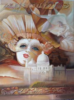 Picturi cu potrete/nuduri masca venetiana--a4