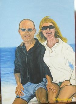Picturi cu potrete/nuduri impreuna la mare