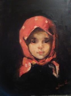 Picturi cu potrete/nuduri Basmaluta  rosie